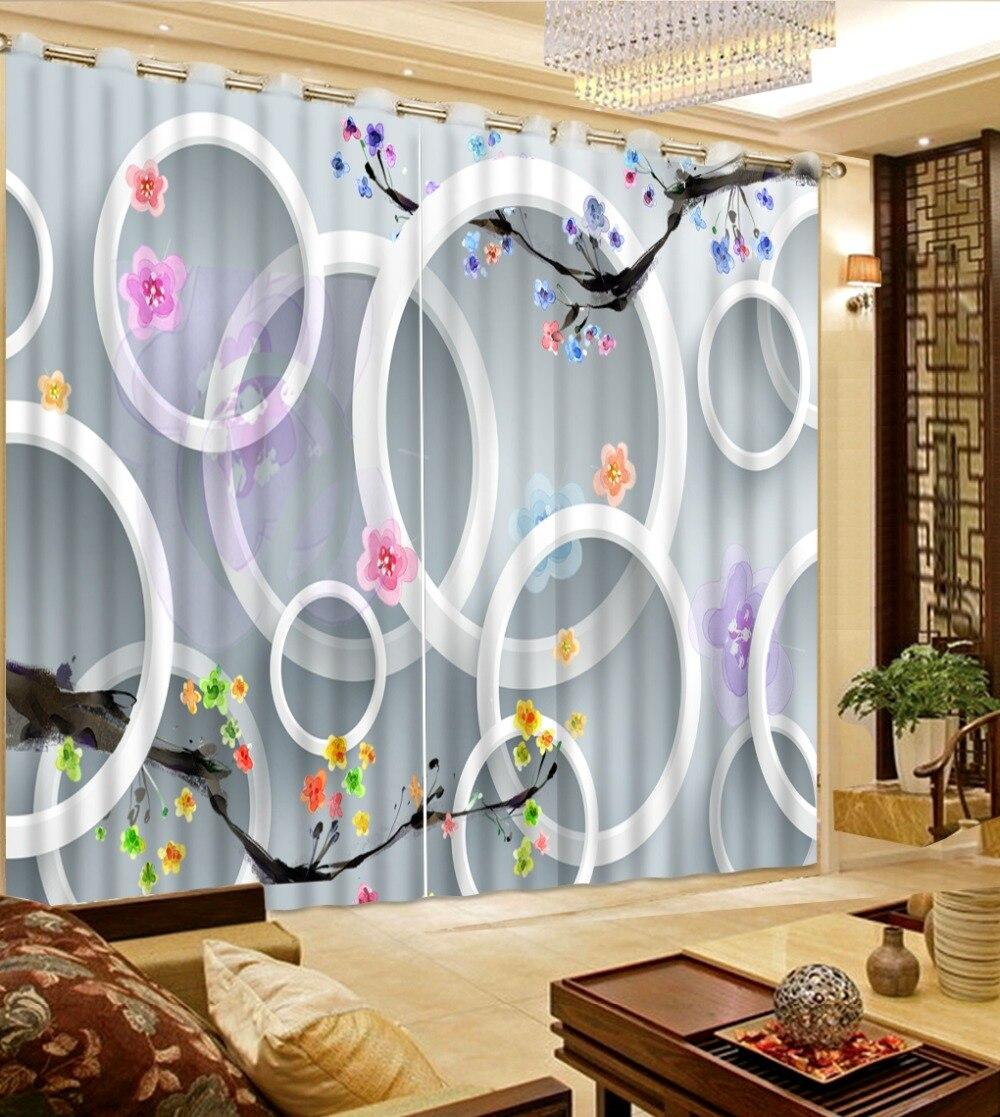 Kids modern bedroom curtains - Modern Brief 3d Curtain Photo Peach Blossom Sky Curtains For Kids Room Custom Landscape Bedroom Curtains