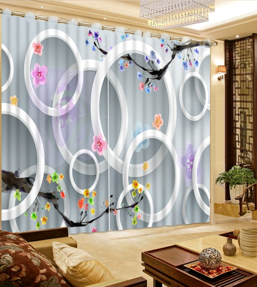 Kids modern bedroom curtains - Modern Brief 3d Curtain Photo Peach Blossom Sky Curtains For Kids Room Custom Landscape Bedroom Curtains