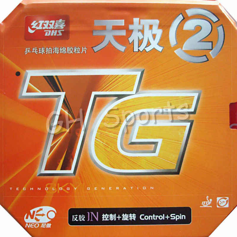 DHS NEO Skyline TG 2 Control + Spin Pips-In Table Tennis PingPong Rubber With Sponge 2.15-2.2mm