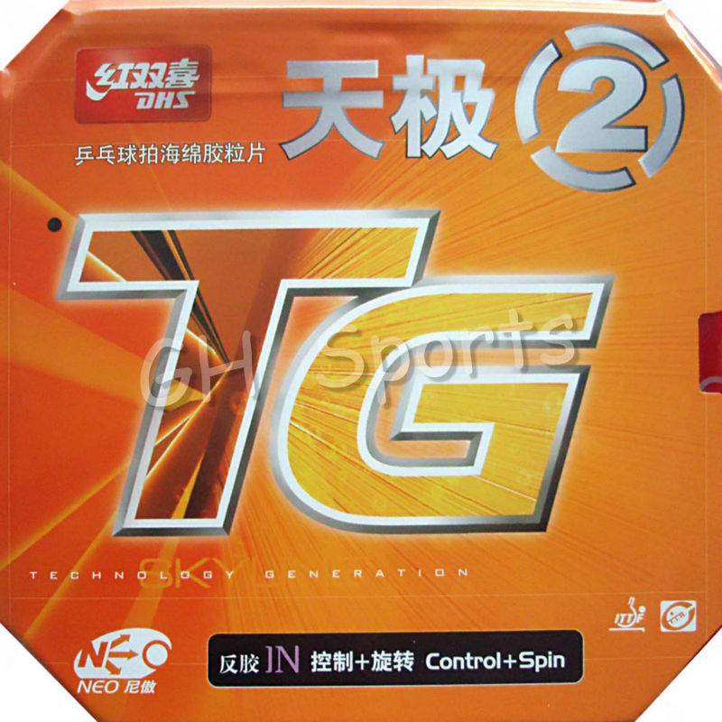DHS NEO Skyline TG 2 Control + Spin Pips-In Table Tennis PingPong Rubber With Sponge 2.15-2.2mm dhs skyline tg3 tg 3 tg 3 pips in table tennis pingpong rubber with sponge