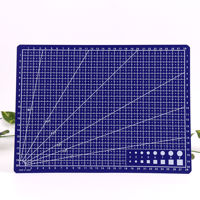 A4 Blue Grid Lines Cutting Mat Craft Card Fabric Leather Paper Board Material Escolar Papelaria 30*22cm