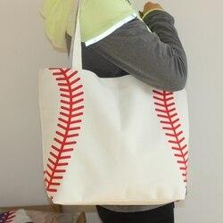 Nouveauté petit baseball cyclisme dame toile sac épaule sac de baseball femmes sac à main mignon Canva fourre-tout sac de basket-ball