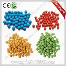 Spunky 100 pçs/saco bolas de treinamento de borracha paintball. 68 calibre
