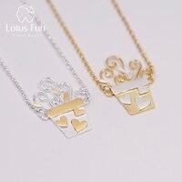 Lotus Fun Real 925 Sterling Silver Handmade Designer Fine Jewelry Lovely Romantic Flower Pot Design Pendant