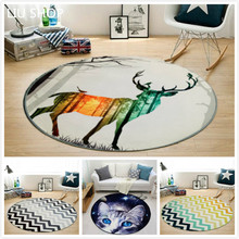 LIU moder Nordic carpet living room bedroom round RUG bed computer chair floor mat cartoon children's play pad sofa tapetes yoga