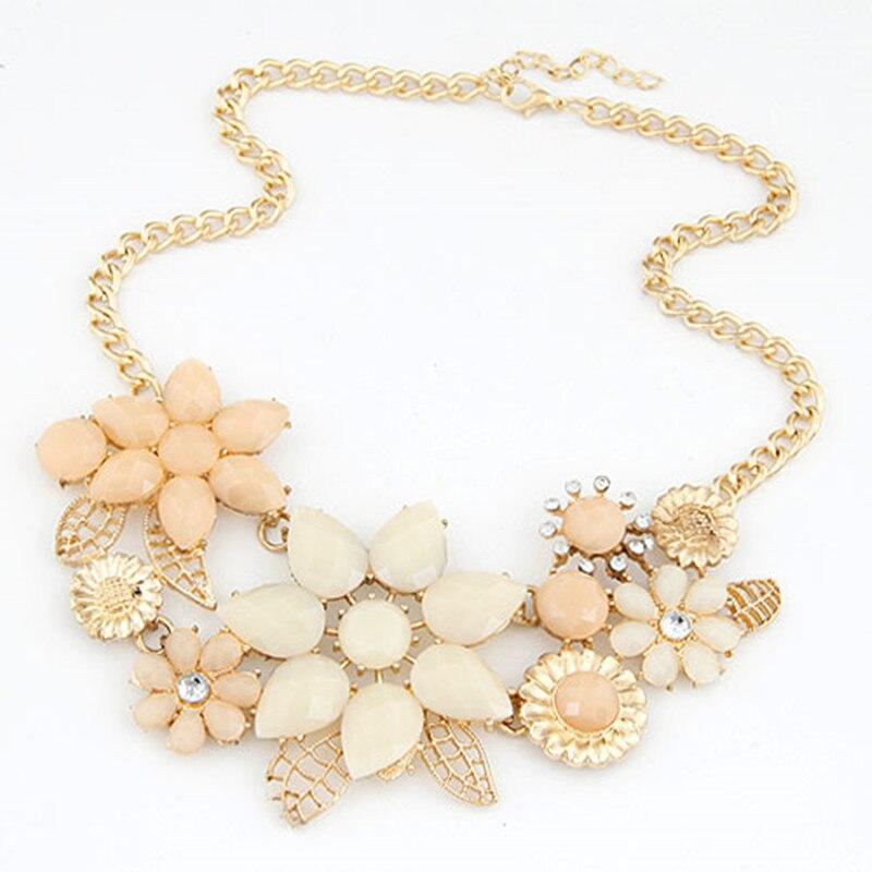 Fashion Vintage Jewelry Flower Statement Choker Necklace Gold Color Shourouk Charms Necklaces & Pendants Bijoux Femme Collares