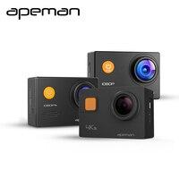 Apeman действие Камера A66 A70 A80 4 К 1080 P HD Водонепроницаемый Спорт Шлем Видео Камера с видеокамера Новые Камера случае один Батарея