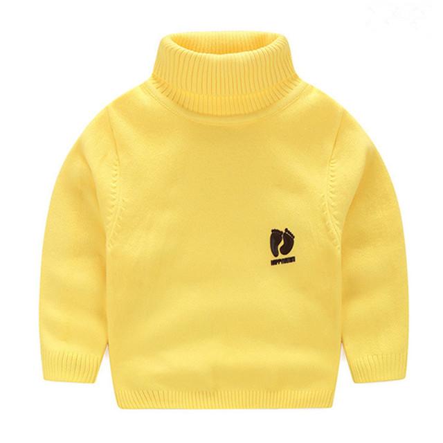 2017 nuevo otoño invierno suéter de punto camisa inferior bebé niños niñas suéter ocasional caliente de espesor niños tops camisa ropa hx010