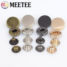 30set Meetee 12/15/17mm Metal Snap Buttons Stud Fastener Press Buckles for Jacket Coat Sewing Clothing Leather Accessories D3-8 цена
