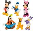 2015 6pcs/set new American PVC anime figure doll toys Donald Duck Mickey Minnie 6CM free shipping