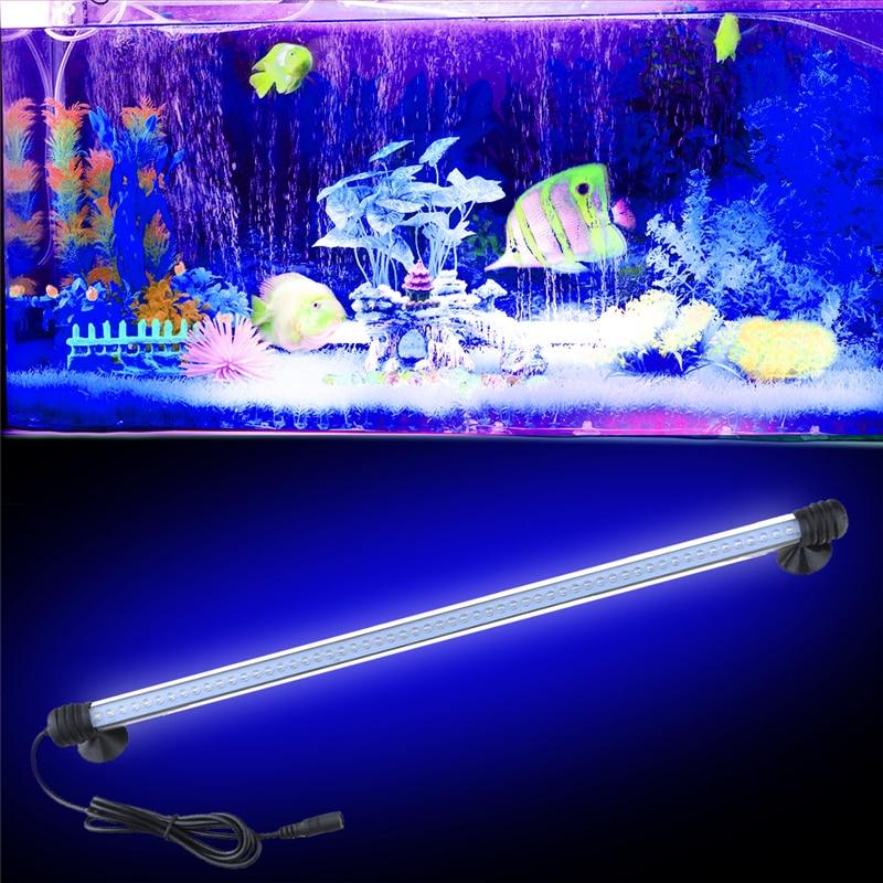 Led Underwater Lights 12v Aquarium Tropical Fish Tank Waterproof 5050 Smd 57cm 30leds Light Bar Lamp Submersible Strip Lighting 4.5w