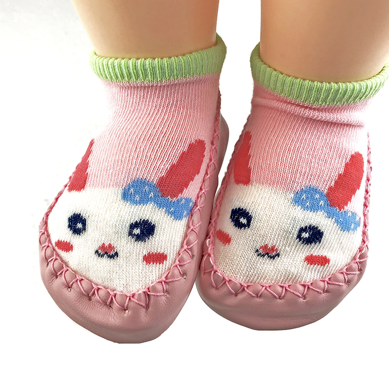 new born baby shoes toddler girl sock shoe for newborn bebe foot socks soft rubble soles fox bunny infant boys slippers walker | Happy Baby Mama