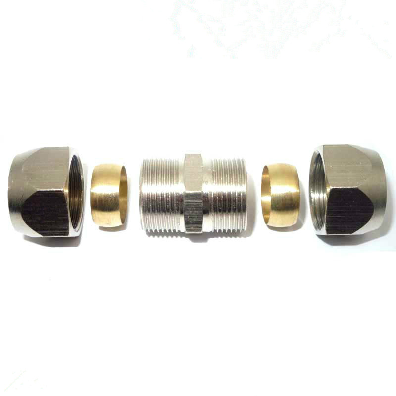 Free Shipping 6 8 Nickel Plated Br Double Connection Connectors