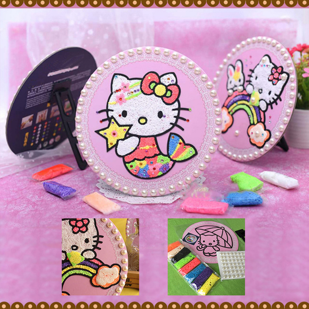 8 Colors Pearls Foam Play Dough Kit Mud Suit Handgum Clay Intelligent Plasticine Kids Educational Toys Gift 7.5x3cm, 1 Set
