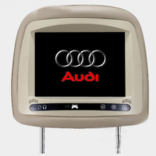 2PCS 7inch HD 800×480 car headrest monitor for audi A3 A4 A6 A4L A6L Q5 Q7 with touch button 2AV input