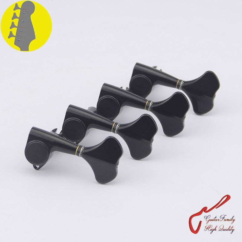цены Original Genuine 4 In-line GOTOH GB707 4 Strings Electric Bass Machine Heads Tuners ( Black ) MADE IN JAPAN