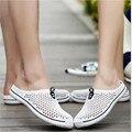 Mulheres tamancos Novo jardim de verão sapatos respirável casuais mens tamanho sandálias de borracha Cor de Doces de alta qualidade lojas de fábrica