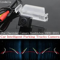 Lyudmila Car Intelligent Parking Tracks Camera FOR Chevrolet Camaro Bumblebee 2009~2015 HD CCD Reverse Camera / Rear View Camera