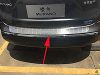 Rear Outer Bumper Protector Cover  for Nissan Murano Steel Trim 2015-2017