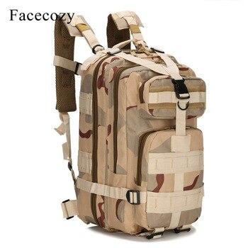Facecozy Da Trekking Outdoor Militare Tattico Zaino Mimetico 600D Nylon Trekking Kit Da Viaggio Sacchetto di 25-30L Piccolo Sport Zaino