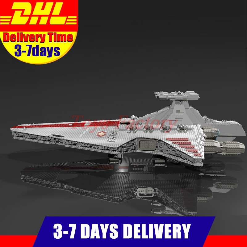 IN STOCK Lepin 05077 6125Pcs Gift UCS Series The UCS Rupblic Star Destroyer Cruiser ST04 Set Building Blocks Bricks Toys lepin 6125 stucke star classic modell wars die ucs st04 republic cruiser educational building blocks bricks spielzeug mode