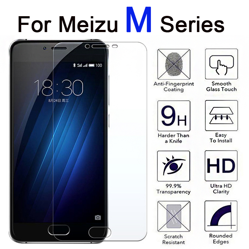 Tempered Glass For Meizu M6 M5 M3 M8 M9 Note Protective Glass Screen Protector On Maisie meilian Not M 3 5 6 8 9 3m 5m 6m 8m 9m image