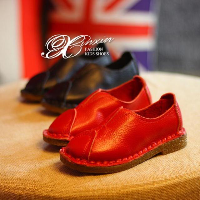 2017 Мода стиль дети shoes мальчики девочки shoes натуральной кожи девушки одиночные shoes симпатичные принцесса flat shoes