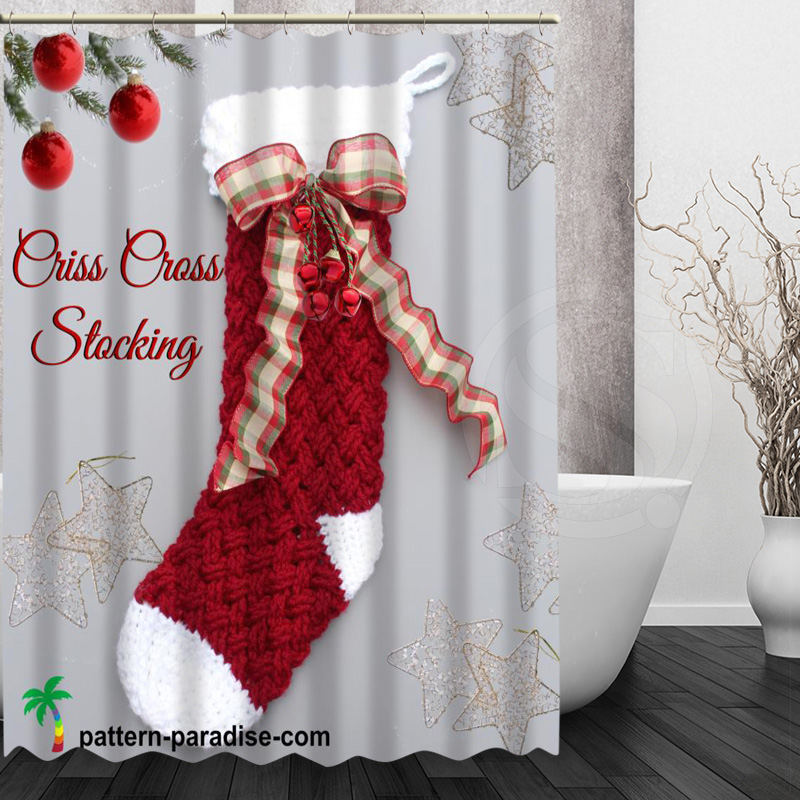 XG Christmas stocking Custom Shower Curtain Waterproof Fabric Shower Curtain for Bathroom MORE SIZE SQ00911@H051