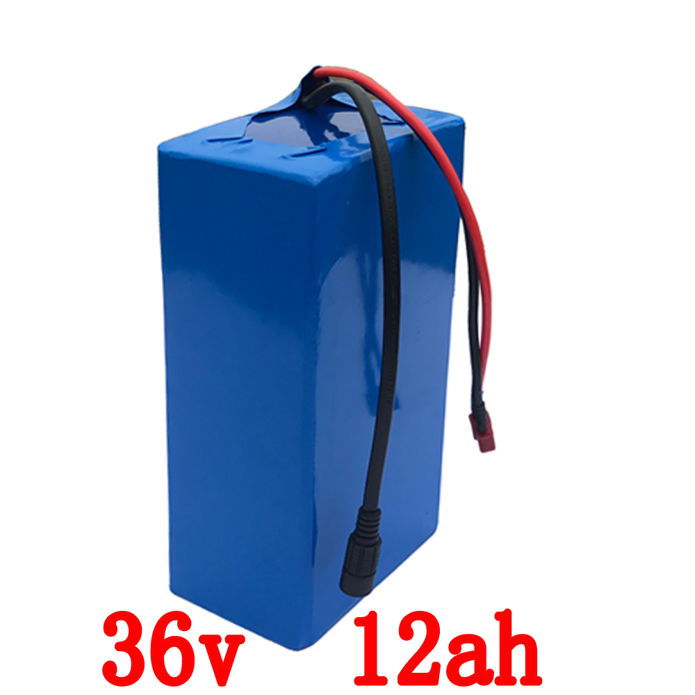 Free customs tax 36V 500W Electric Bike battery 36V 12AH Lithium Battery 36V E-bike battery with 15A BMS and 42V 2A charger free customs taxes factory 36 volt battery pack with charger and 15a bms for 36v 10ah lithium battery