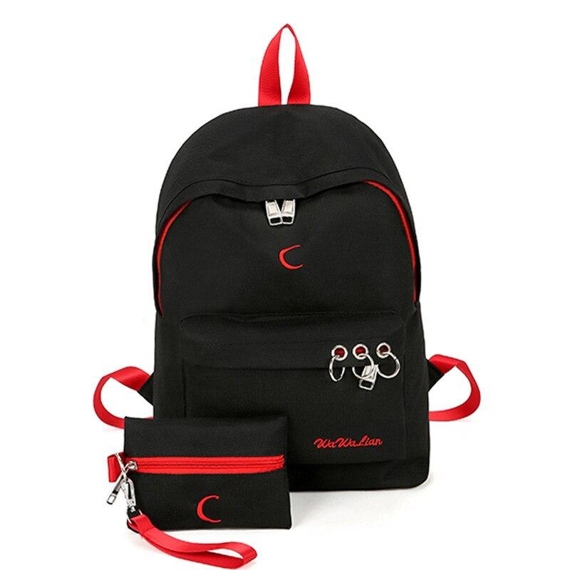 0ad7b8fcd1fa Купить Простой Для женщин мешок холщовый на молнии Для женщин рюкзаки  Повседневная Для женщин молодежь студенты школьный Продажа Дешево