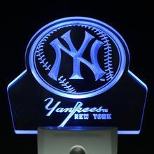 Ws0104 Yankees Bar Club Día Sensor/Noche Led Luz de La Noche
