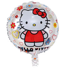 4ace85625 5pcs/lot 18 inch Hello Kitty Foil Balloons Baby inflatable Globos Toy  Birthday Wedding Party Decoration KT Cat Helium Balloon