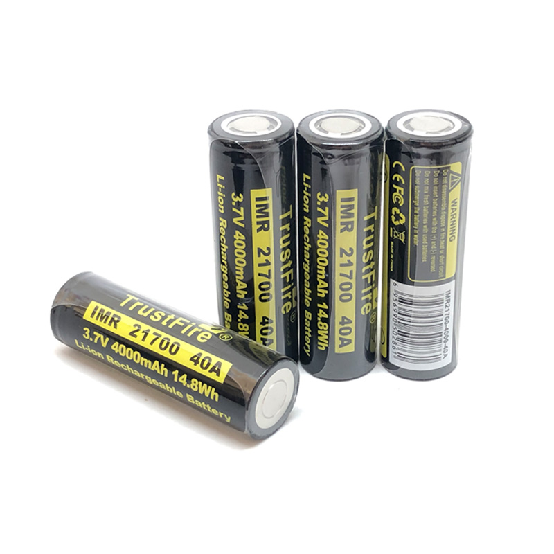 6pcs lot TrustFire 21700 3 7V 40A 4000mAh 14 8W Lithium Rechargeable Battery with Safety Relief