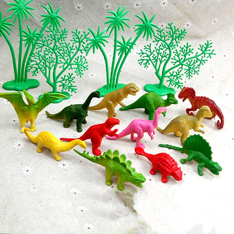 16Pcs/Set DIY Jungle Dinosaur Cake Decorating Ornaments Creative Cake Baking Decoration Home Birthday Party Supplies Kids Gifts