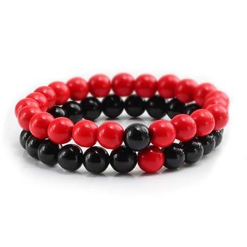 2Pcs/set Couple Distance Beaded Bracelet Natural Stone Strand Bracelets Homme Charm Yoga Jewelry Gifts for Women Men Best Friend 2