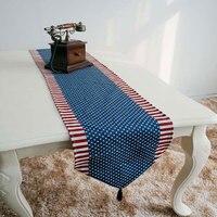 ธงอเมริกันแบบผ้าปูโต๊ะผ้าฝ้ายธงPlacematผ้าปูโต๊ะโรงแรมตกแต่งบ้านอุปกรณ์