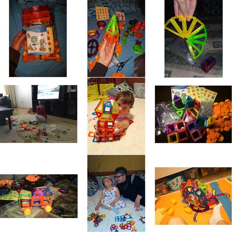 124-252pcs Mini Magnetic Designer Construction Set Plastic Educational Toys For Kids Boys & Girls Christmas Gift #2