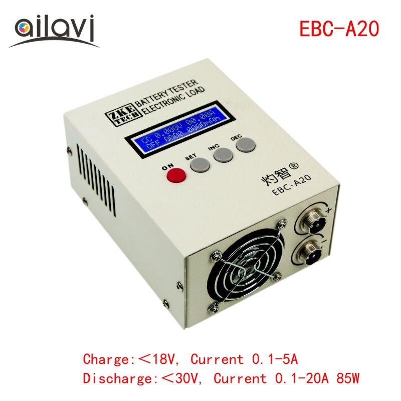 Testador de Bateria EBC-A20 30 v 20A 85 w De Lítio Baterias de Chumbo-ácido Capacidade Teste 5A 20A Descarga de Carga Suporte controle de Software para PC