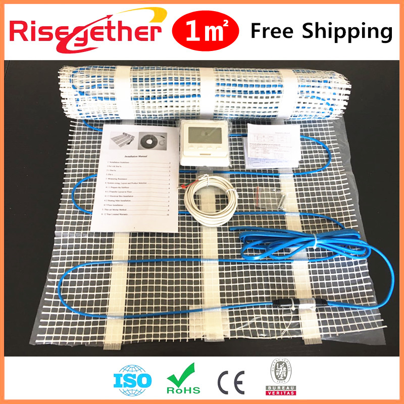 Factory Price 150W/sqm Electric Floor Heating Mat Kit With LCD Digital Thermostat For Under floor Heating System Heated Tile 3m laminate floor grounding kit 3047 [price is per each]