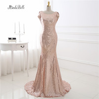 Custom Made Rose Gold Bridesmaid Dress Vestido De Madrinha Longo Sequins Party Dress Trouwjurken Robes Femmes