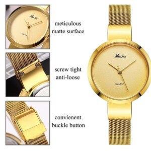 Image 5 - Mlle Fox Argent Minimaliste Montre En Acier Mince Style Simple Ultra Mince Montre Étanche Causal Xcfs Timepiece Femmes Bayan Kol Saat