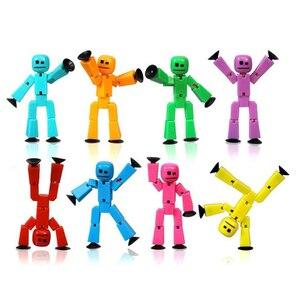 Image 3 - 20 sztuk/partia kolory losowo wysyłania śliczne przyklejony Robot Sucker przyssawka śmieszne ruchome zabawkowe figurki akcji