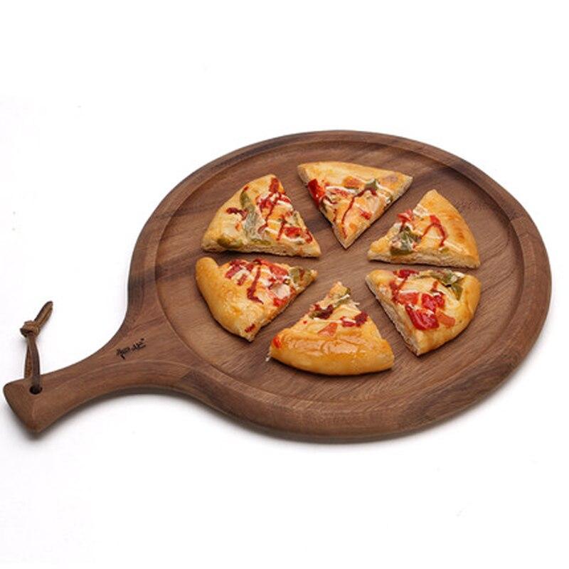 Haute qualité bois pain Pizza bloc à découper créatif Anti-bactérien bambou rond planche à découper fournitures de cuisine