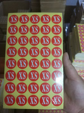 120 sheets (4800pcs) red big circular size  adhesive paper labels use for garments instant adhesive stickers все цены