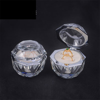 crystal style ring box couple rings packaging & display glass for women gifts box Proposing wedding jewelry box high quality
