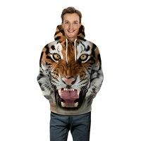 Nueva Moda 3d Sudaderas Con Capucha de Los Hombres/Mujeres Sudaderas 3d Print Tiger Fuego Delgada Con Capucha Sudaderas Con Capucha Fresca Tops