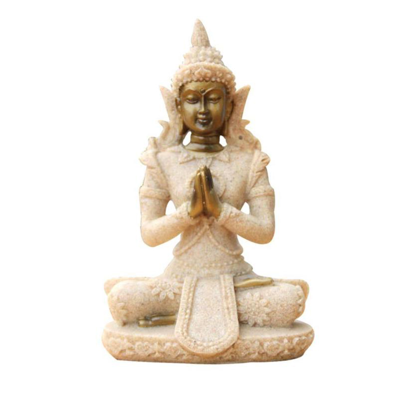 Small Religion Statue Sculpture Meditation Buddha Statue Home Decor Ornaments Creative Gifts Southeast Asia Decoratios