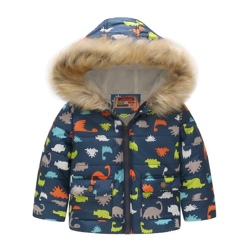 6be8a4e6c Boys Winter Coats Windbreaker Kids Jackets Baby Boys Clothes Fur ...