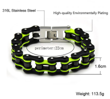 Fashion Motorcycle Titanium Chain Men's Bracelet
