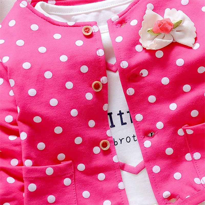 e7f520068e04f BibiCola Baby Girl clothing Sets kids 3PCS coat+ T shirt + Pants children  Cute Princess Heart shaped Print Bow baby girl outfits-in Clothing Sets  from ...